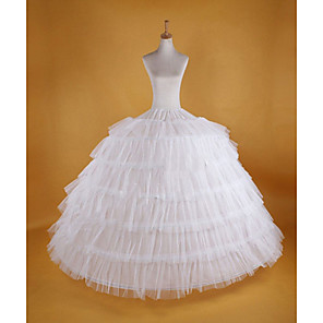 cheap Movie & TV Theme Costumes-Bride Petticoat Hoop Skirt Tutu Under Skirt 1950s White Petticoat / Crinoline
