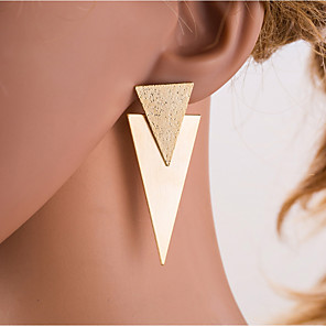 cheap Necklaces-Women's Silver Gold Drop Earrings Geometrical European Earrings Jewelry Gold / Silver For Daily 1 Pair