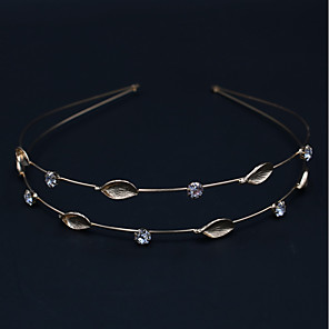 cheap Hair Jewelry-Women's Ladies Party Active Elegant Rhinestone Silver Plated Gold Plated Solid Colored