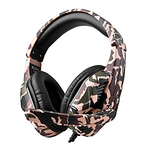 cheap Gaming Headsets-T-173M Camouflage Gaming Headset Casque Wired PC PUBG Gamer Stereo Gaming Headphones with Microphone for XBox One Laptop Tablet