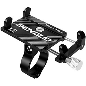 billige Bilholder-Telefonstativ til cykel Justérbar / Udtrækkelig Anti-glide Universel for Vejcykel Mountain Bike Aluminum Alloy iPhone X iPhone XS iPhone XR Cykling Sort Sølv Rød