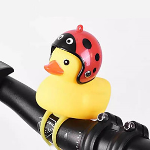 cheap Motorcycle & ATV Parts-Bell Duck Light Horn Bell Helmet For Scooter Dirt Kids Pocket Bike Motorcycle Bicycle Handlebar