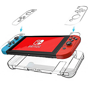 cheap Phones & Accessories-Cooho Hard PC Protection Cover for Nintend Switch NS NX Case Clear Nintendo Switch Case Crystal Console Control Accessories with Stand Cases