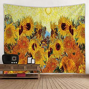 tanie Obrazy: motyw zwierzęcy-Motyw ogrodowy / Motyw kwiatowy Dekoracja ścienna 100% poliester Nowoczesny Wall Art, Ścienne Gobeliny Dekoracja