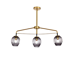 cheap Candle-Style Design-QINGMING® 3-Light 11 cm Mini Style Chandelier Metal Glass Mini Electroplated / Painted Finishes Artistic / Traditional / Classic 110-120V / 220-240V