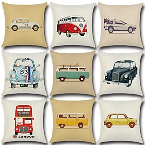 cheap Pillow Covers-1 pcs Cotton / Linen Pillow Cover, 3D Print Artwork Fashion Christmas Throw Pillow