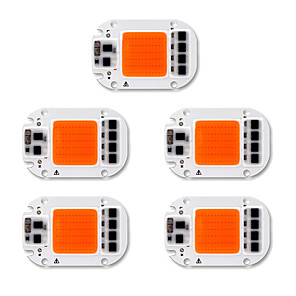 cheap Plant Growing Lights-5pcs COB 220-240V 110-130V DIY Aluminum Led Grow Bulb COB Chip for DIY Plant Flower Seeding light 50W