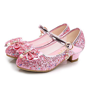 cheap Kids' Sandals-Girls' Comfort / Tiny Heels for Teens / Children's Day Synthetics Heels Toddler(9m-4ys) / Little Kids(4-7ys) / Big Kids(7years +) Pink / Gold / Blue Fall