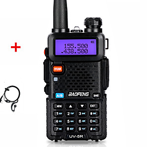 cheap Walkie Talkies-Baofeng Walkie Talkie UV-5R Two Way CB Radio Upgrade Version 128CH 5W VHF UHF 136-174MHZ & 400-520MHZ Portable Ham Radio Station Amateur Intercome HF Transceiver UV5R Earphone