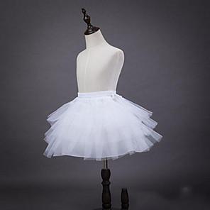 cheap Historical & Vintage Costumes-Ballet Classic Lolita 1950s Dress Petticoat Hoop Skirt Tutu Crinoline Women's Girls' Tulle Costume White Vintage Cosplay Party Performance Princess
