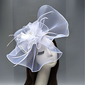 cheap Fascinators-Net Kentucky Derby Hat / Fascinators / Headdress with Flower / Trim 1 Piece Wedding / Special Occasion / Horse Race Headpiece