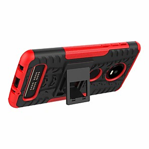 cheap Other Phone Case-Case For Motorola Moto Z4 play / Moto G7 Play Shockproof / with Stand Back Cover Armor Hard Plastic