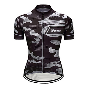 cheap Cycling Jersey & Shorts / Pants Sets-Men's Short Sleeve Cycling Jersey Camouflage Camo / Camouflage Plus Size Bike Jersey Top Mountain Bike MTB Road Bike Cycling Breathable Quick Dry Sports Clothing Apparel / Stretchy