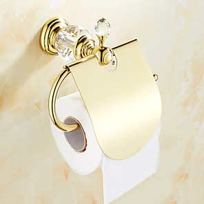 cheap Bathroom Sink Faucets-Toilet Paper Holder Creative Brass 1pc Wall Mounted