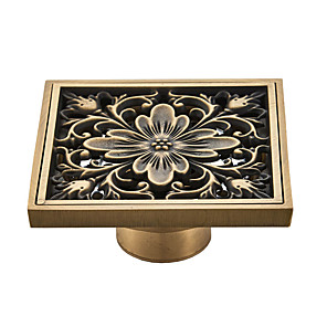 cheap Faucet Accessories-Drain Cool Country / Antique Brass 1pc - Hotel bath Floor Mounted Floor Drain