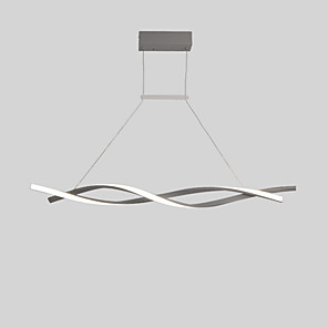 cheap Pendant Lights-2-Light 80 cm Creative Adjustable Chandelier Aluminum Linear Painted Finishes Contemporary LED 110-120V 220-240V