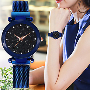 cheap Quartz Watches-Women's Quartz Watches Casual Fashion Astronomical Black Blue Red Alloy Chinese Quartz Red Purple Rose Gold New Design Casual Watch 1 pc Analog One Year Battery Life / SSUO 377