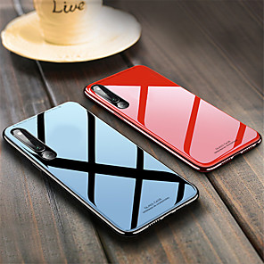 cheap Huawei Case-Case For Huawei Huawei P20 / Huawei P20 Pro / Huawei P20 lite Shockproof Back Cover Solid Colored Hard TPU / Tempered Glass / P10 Plus / P10