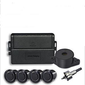 cheap Car Rear View Camera-Car Parking Sensor with 4 Sensors Buzzer 22mm Kit Reverse Backup Radar Sound Alert Indicator Probe System 12V