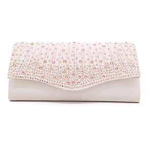 cheap Historical & Vintage Costumes-Women's Bags Polyester Evening Bag Chain for Wedding / Party / Event / Party Wine / Black / Almond / Silver / Wedding Bags