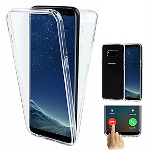 cheap Samsung Case-Case For Samsung Galaxy S9 / S9 Plus / S8 Plus Shockproof / Ultra-thin / Transparent Full Body Cases Solid Colored Soft TPU