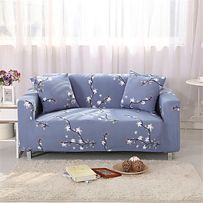 cheap Car DVD Players-Plum Blossom Print Dustproof Stretch Slipcovers Stretch Sofa Cover Super Soft Fabric Couch Cover (You will Get 1 Throw Pillow Case as free Gift)