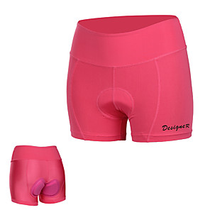cheap Women's Cycling Underwear & Base Layer-Mountainpeak Women's Cycling Under Shorts Bike Underwear Shorts Padded Shorts / Chamois Breathable Sports Solid Colored Rose Red Mountain Bike MTB Road Bike Cycling Clothing Apparel Form Fit Bike Wear