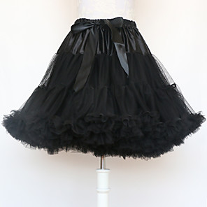 cheap Historical & Vintage Costumes-Ballet Classic Lolita 1950s Dress Petticoat Hoop Skirt Tutu Crinoline Women's Girls' Costume Black / White / Red Vintage Cosplay Cotton Party Performance Princess