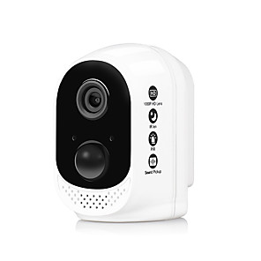 cheap Outdoor IP Network Cameras-Hiseeu   FT12  13600mAh Rechargeable wifi battery security ip camera 1080P HD Wireless outdoor safety cctv camera PIR Alarm Waterpoof