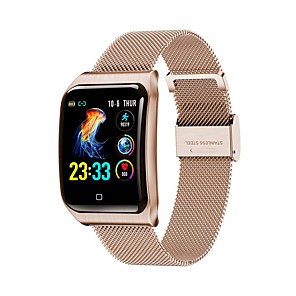 cheap Smartwatches-F9 Smart Watch BT Steel Stainless Fitness Tracker Support Notify/ Heart Rate Monitor Sports Smartwatch Compatible with Apple/ Samsung/ Android Phones