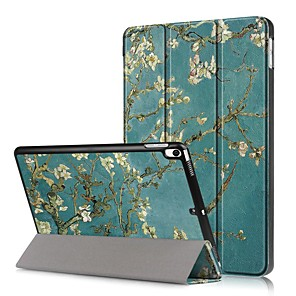 cheap iPad case-Case For Apple iPad Mini 5 / iPad New Air(2019) Shockproof / Flip / Pattern Full Body Cases Flower Hard PU Leather