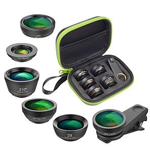 cheap Smartphone Camera Lenses-Mobile Phone Lens Lens with Filter / Fish-Eye Lens / Long Focal Lens Glasses / Aluminium Alloy 2X 25 mm 15 m 210 ° Creative
