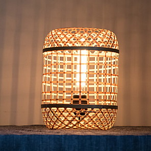 cheap Table Lamps-Table Lamp Modern Contemporary For Bedroom Indoor Wood Bamboo 220V