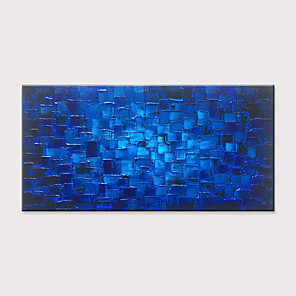 cheap Abstract Paintings-Oil Painting Hand Painted - Abstract Classic Modern Rolled Canvas