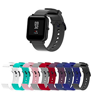 cheap Smartwatch Bands-Watch Band for Huami Amazfit Bip Younth Watch Xiaomi Sport Band Silicone Wrist Strap