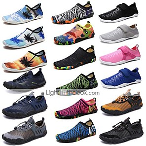 cheap Water Shoes & Socks-Men's Women's Water Shoes Printing Rubber Barefoot Swimming Aqua Sports - for Adults