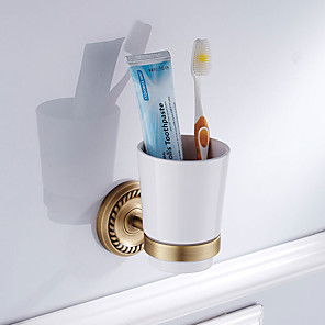 cheap Toothbrush Holder-Toothbrush Holder New Design Antique Brass / Ceramic 6pcs - Hotel bath Wall Mounted