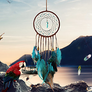 cheap Dreamcatcher-Handmade Dream Catchers With Feather Wall Hanging Home Decoration Ornament Decor Ornament