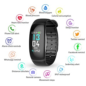 cheap Smart Wristbands-KUPENG B70 Smart Bracelet Smartwatch Android iOS Bluetooth Smart Sports Waterproof Heart Rate Monitor Blood Pressure Measurement Pedometer Call Reminder Activity Tracker Sleep Tracker Sedentary