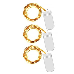 cheap LED String Lights-3pcs 2m String Lights Outdoor String Lights 20 LEDs SMD 0603 Warm White White Multi Color Waterproof  Party Decorative Batteries Powered