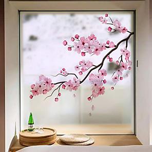 cheap Wall Stickers-Window Film & Stickers Decoration Contemporary / 3D Flower / Floral PVC(PolyVinyl Chloride) Window Sticker / Anti-Glare