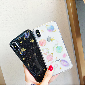 cheap iPhone Cases-Case For Apple iPhone XR / iPhone XS Max DIY / Pattern / Transparent Back Cover Glitter Shine / Scenery Soft TPU for iPhone X /Xs / 6 /6 Plus / 6S /6S Plus / 7 / 7 Plus / 8 / 8 Plus