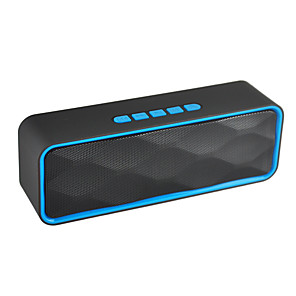 cheap Portable Speakers-SC211 Mini Bluetooth Speaker Portable Column Bass Subwoofer Support FM Radio AUX USB TF Card HIFI Portable Speaker for Computer iPhone