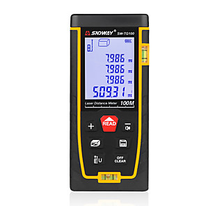 cheap Level Measuring Instruments-SW-TG100 Double Horizontal Bubble Rangefinder Laser Distance Meter Range Finder Hand Tool Device