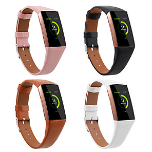 cheap Smartwatch Bands-Watch Band for Fitbit Charge 3 Fitbit Sport Band Genuine Leather Wrist Strap