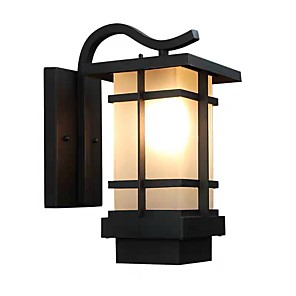 cheap Outdoor Wall Lights-QIHengZhaoMing LED Modern Contemporary Outdoor Wall Lights Shops Cafes Office Metal Wall Light 110-120V 220-240V 12 W