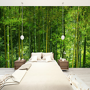 cheap Wall Stickers-Bamboo Forest Suitable for TV Background Wall Wallpaper Murals Living Room Cafe Restaurant Bedroom Office XXXL(448*280cm)