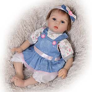 cheap Reborn Doll-22 inch Reborn Doll Baby Boy Baby Girl Kids / Teen Adorable Lovely with Clothes and Accessories for Girls' Birthday and Festival Gifts
