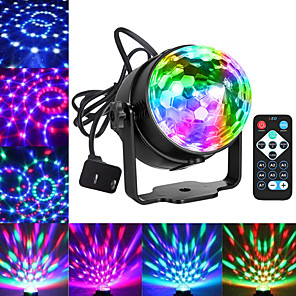 cheap Stage Lights-Party Lights Disco Ball Dj Lights Blingco Disco Lights Sound Activated Strobe Lights Party Ball Light LED Stage Lights Effect Show Lighting Disco Light for Birthday DJ Kids Xmas Club Karaoke Wedding