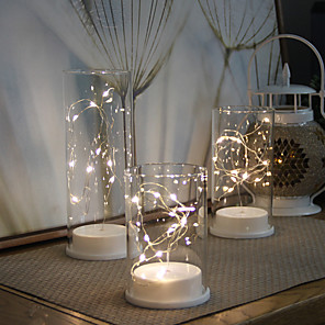 cheap LED String Lights-LED Night Light Creative / Wedding / Birthday AAA Batteries Powered 1 set